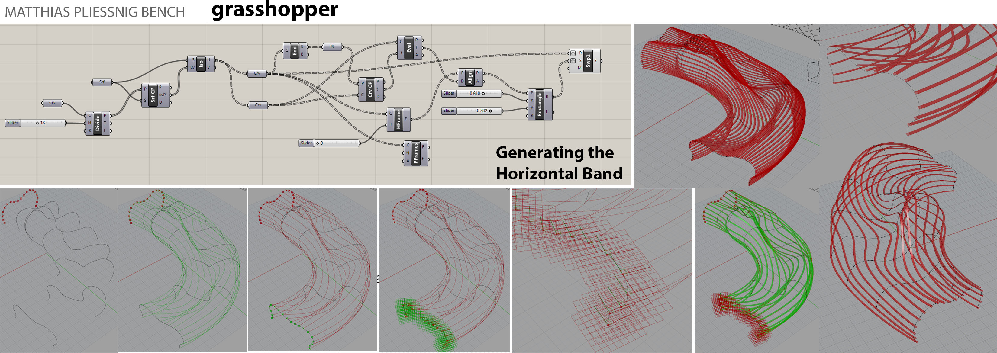 3nd week Grasshopper for the Horizontal Bands – Parametrics