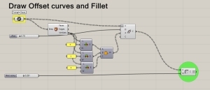 Draw Offset Curves and Fillet 3