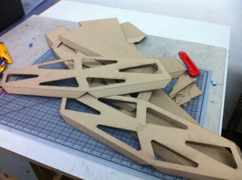 laser cut pieces of module with cutouts